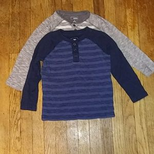 Sonoma Boy's size 5, 2 long sleeve T-shirts
